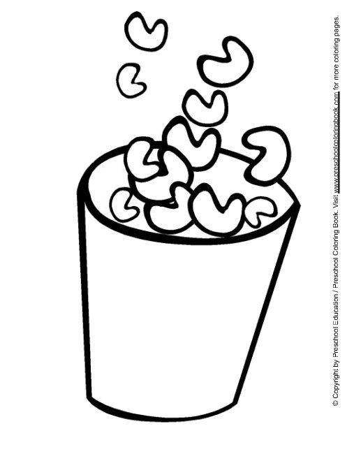 Snack Coloring Page Coloring Page Template Printing Printable Food Coloring Pages For Kids Food Coloring Pages Coloring Pages Coloring Pages For Kids