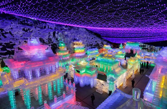 Ice sculptures at the Chinese Lantern Festival, which takes place on the 15th day of the Lunar New Year. Next year.