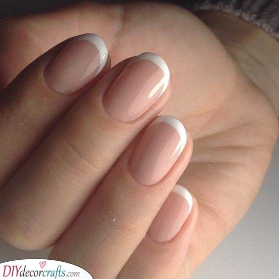 A Standard Manicure Simple French Nail Designs French Nail Designs French Nails French Manicure Nails