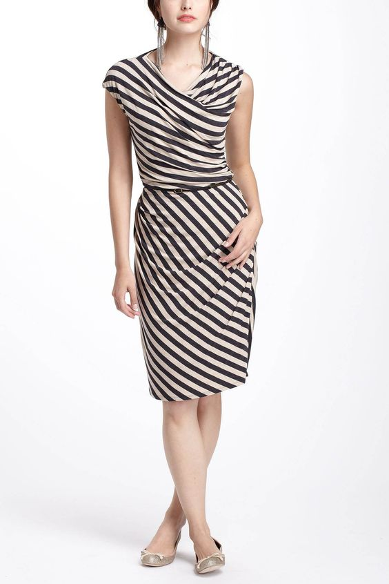 Given Then Gathered Column Dress / Anthropologie