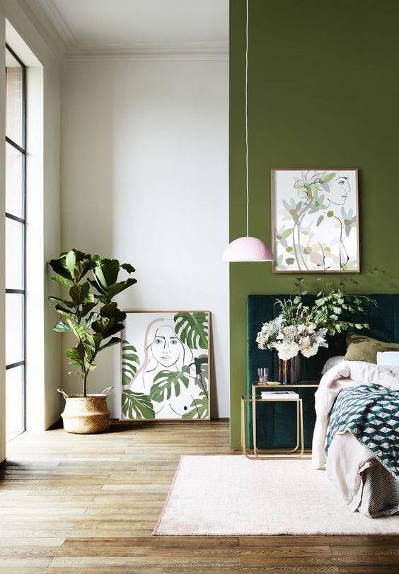La Paleta De Verdes Con Luz Colores De Casas Interiores