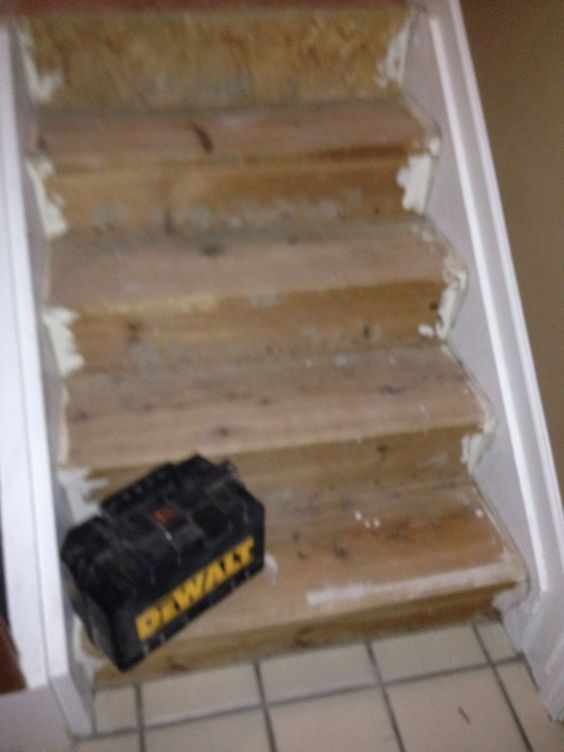 Stairs sanded