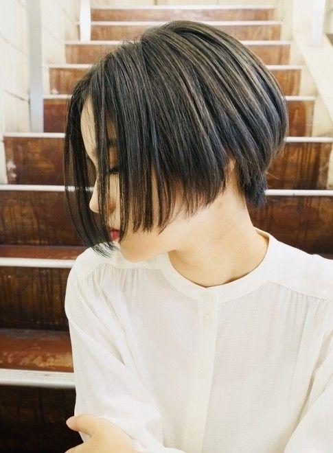 40代50代の方にもオススメショートボブ 髪型ショートヘア ビューティーナビ Korejskaya Strizhka Stili Strizhek Ottenki Kashtanovyh Volos