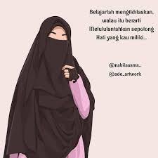 50 Gambar Kartun Muslimah Bercadar Cantik Berkacamata Gambar Gambar Kartun Kartun