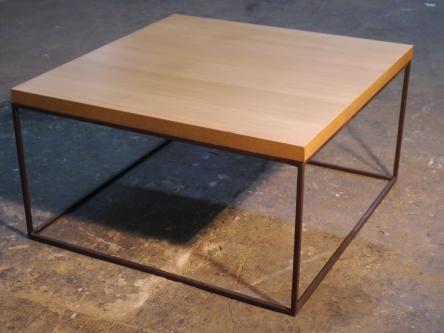 Mesa de centro en hierro y madera one mesas de centro en hierro y madera pinterest mesas - Mesa centro madera y hierro ...
