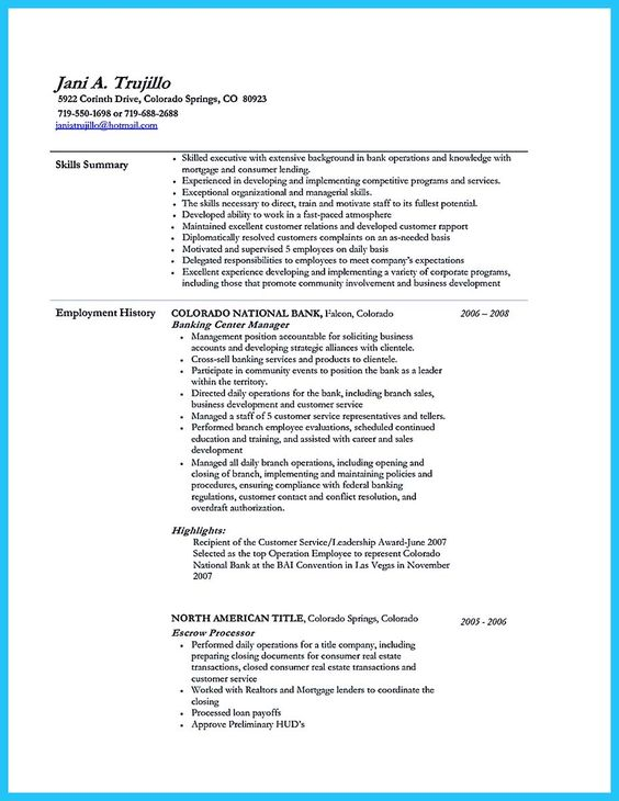 nice One of Recommended Banking Resume Examples to Learn, resume - universal banker resume