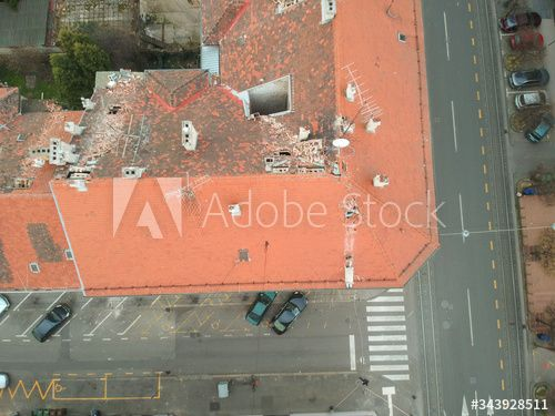 Aerial View Above Of Damaged Building Due To Earthquake Zagreb Croatia Ad Damaged Building Aerial View Zagreb In 2020 Aerial View Zagreb Aerial