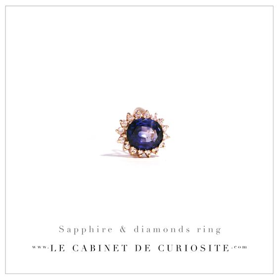 Sapphire & diamonds ring - France