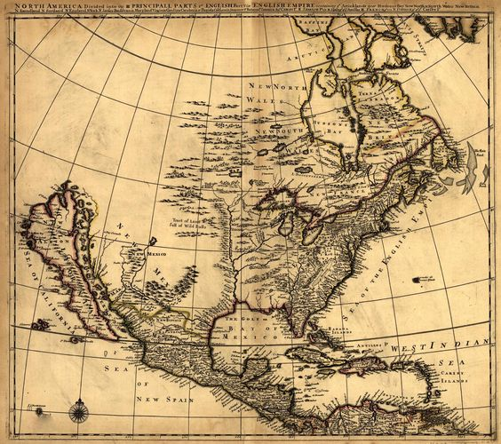 Maps of Mexico North American Map Divided into its Principal – Map of North Mexico