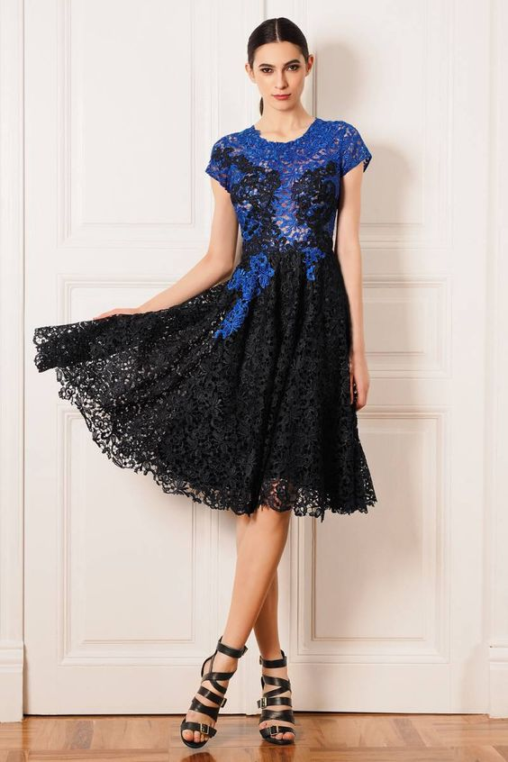 Find More Cocktail Dresses Information about 2016 High End Custom Lace Cocktail…