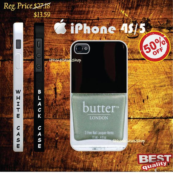 Butter London grey green Chanel Nail Polish Case iphone 4(s) case and iphone 5 case, Nail - iphone 4 case, iphone 4s case, iphone 5 case