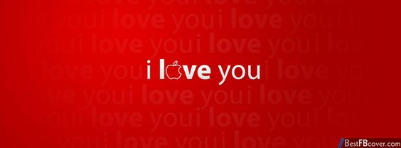 I Love You Apple Facebook cover