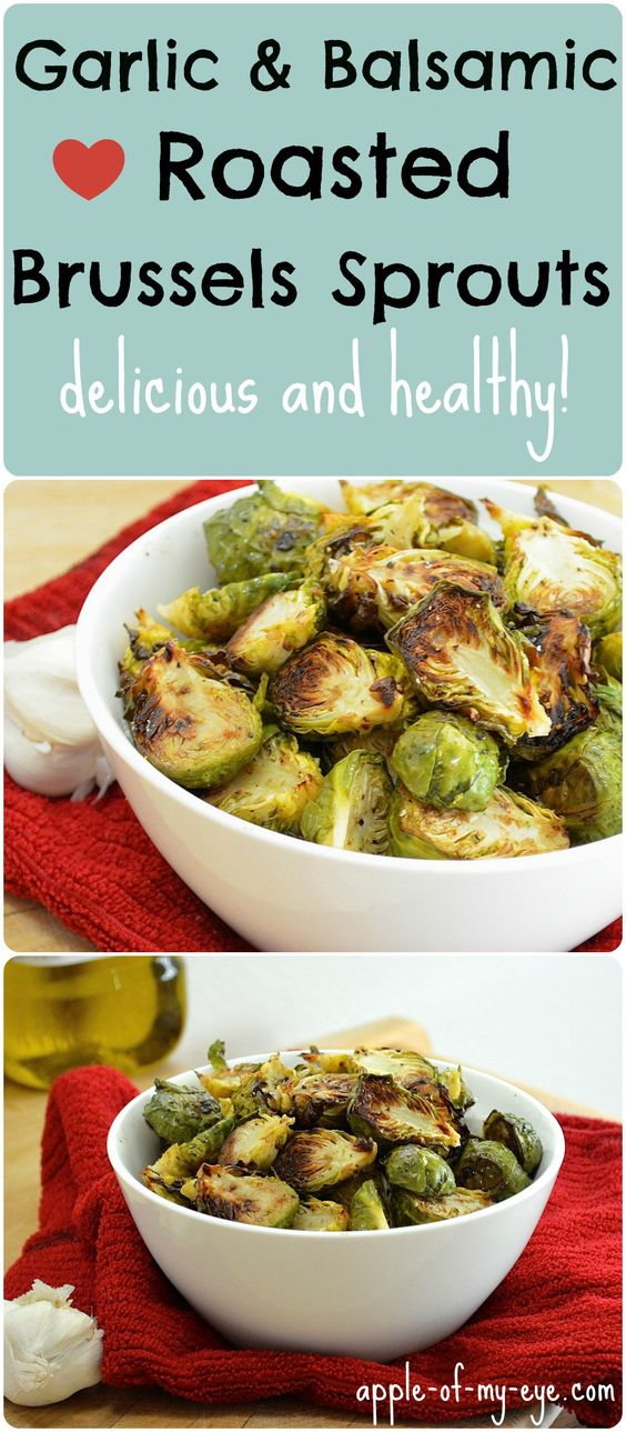 Garlic Balsamic Roasted Brussels Sprouts - Apple of My Eye