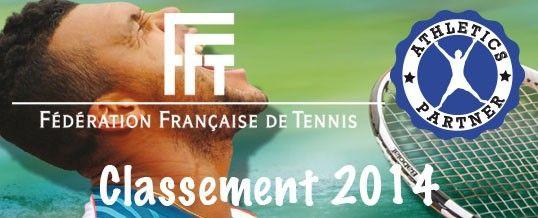 Tennis : classement FFT 2014