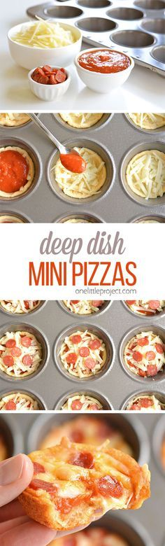 These deep dish mini pizzas are so easy to make and they TASTE AMAZING ...