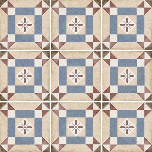 Carrelage Style Ciment 20x20 Cm Art Nouveau Lys Colour 24399 1m
