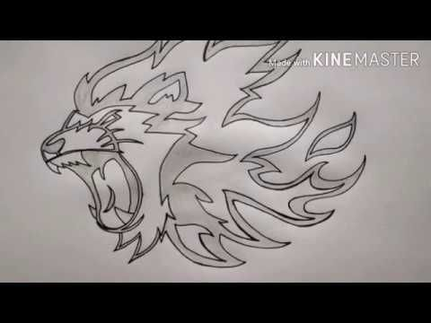 How To Draw Flaming Lion Tattoo With Images Lion Tattoo Creative Drawing Drawings