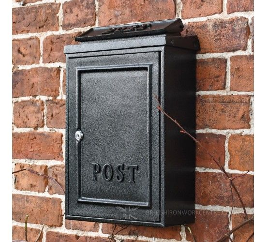 Simplistic Black Wall Mounted Post Box Wall Mounted Post Boxes Post Boxes Shop Post Box Wall Mounted Black Walls Post Box