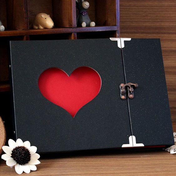 Free shipping Creative Hollowed Heart Shape Photo Album Scrapbook Sticker Diary Gift Free Shipping Hot New-in Photo Albums from Home & Garden on Aliexpress.com | Alibaba Group