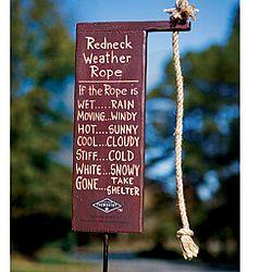 Redneck Weather Forecaster: