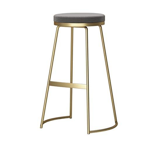 Laxf Backless Nordic Style Metal Bar Stools Dining Chair For