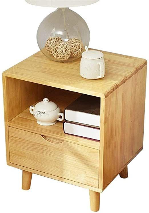 Hong Jie Yuan Wood Nightstand Bedside Table Solid Wood Bedside Table Nordic Storage Locker In 2020 Solid Wood Bedside Tables Simple Bedside Tables Solid Wood Bedside