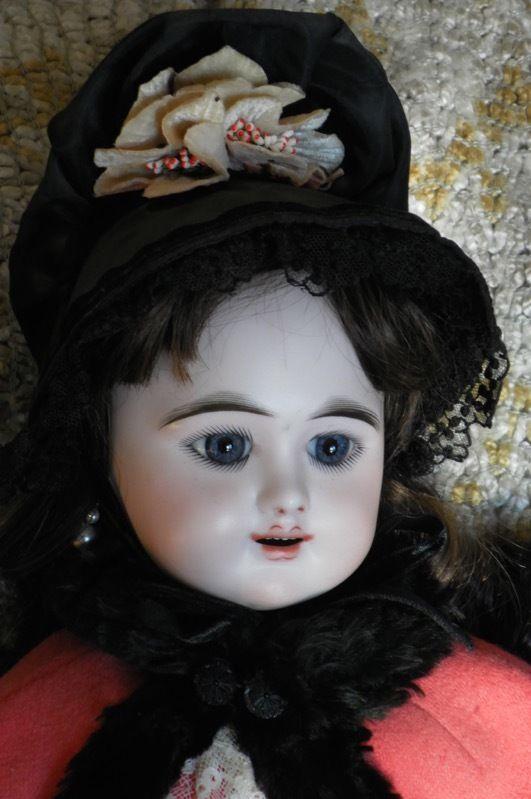 """RARE ANTIQUE Doll EDEN BEBE Paris 9 WALKER Crier LOVELY COSTUME! French 22"""""""