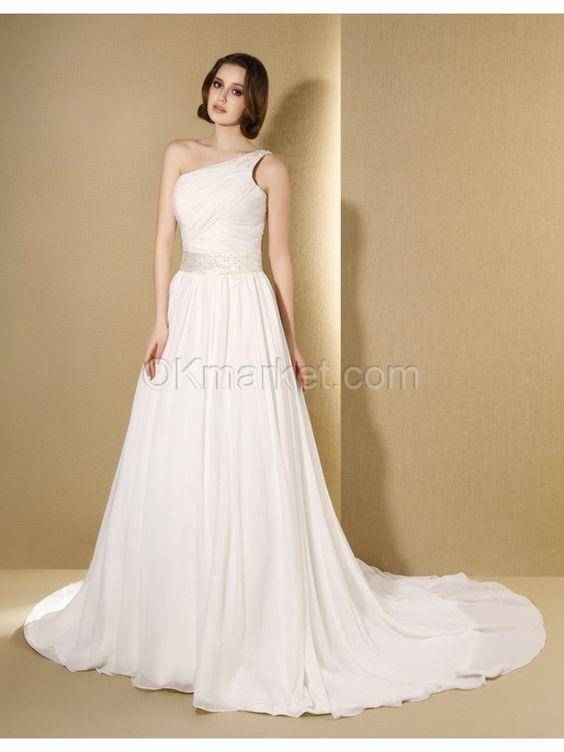mostpopular flowy beach wedding dresses