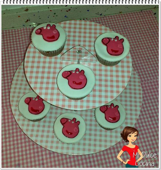 Mi Dulce Cocina: Cupcakes de Peppa Pig