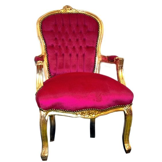 Deep Pink on Gold Chair