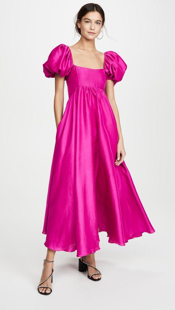 Azeeza Платье Rory с объемными рукавами | SHOPBOP