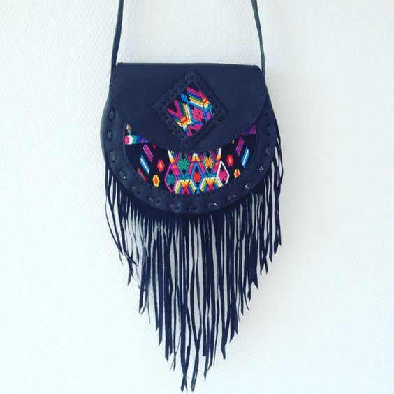 Gypsy fringe bag!! Made in Guatemala! #bag #fringes #leather #handmade