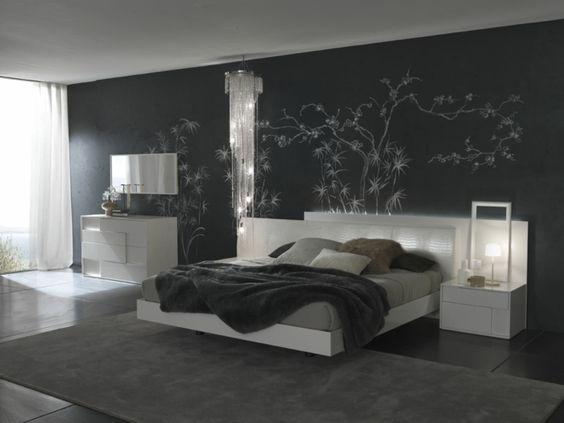 Bodenbelag schlafzimmer ~ Wohnideen schlafzimmer dunkle wände bodenfliesen home