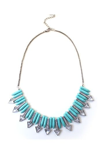 Tassel Style Green and Red Turquoise Necklace [FTBJ00234]- US$ 17.99 - PersunMall.com