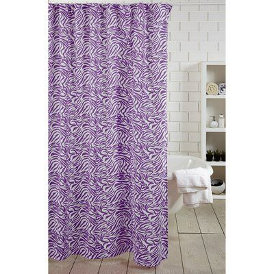 Amity Home Zebra Stripe 100 Cotton Single Shower Curtain Color