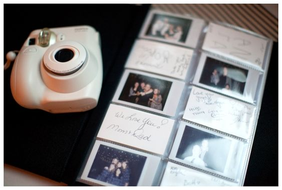 Polaroid wedding sign-in...this ensures that you have a picture of EVERYONE who was at your wedding.