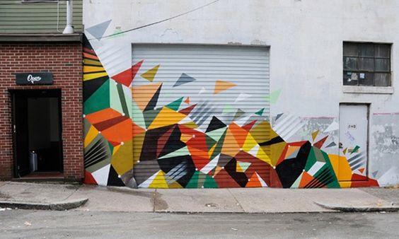 crazy mural