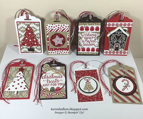 Karen's Stampin' Habit!: Christmas Tags for a Swap: