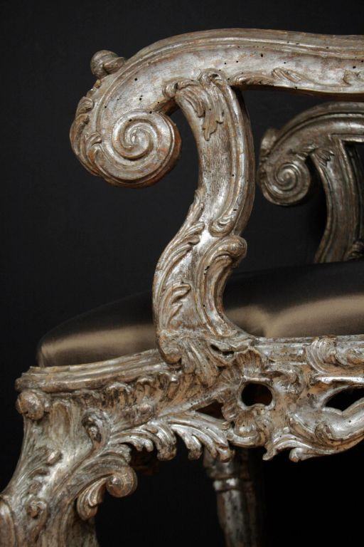 Carved Rococo Chair Detail