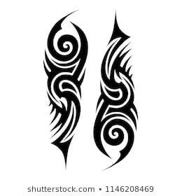 Tribal Pattern Tattoo Vector Art Design Isolated Illustration Abstract Pattern On White Background Tribal Tattoos Tribal Tattoo Designs Tribal Pattern Tattoos