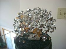 "J.E. Tramel AN ORIGINAL ""DREAM TREE"" SILVER FOILED LEAVES TWISTED TRUNK W/PAPERS: Twisted Trunk"