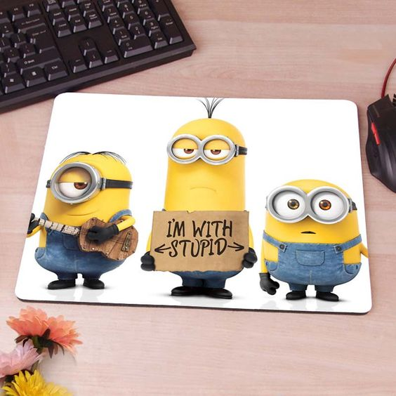 Minions Despicable me 2 Computer Mouse Pad Mousepad Decorate Your Desk Non-Skid Rubber Pad hwd