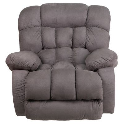 Darby Home Co Ragland Softsuede Rocker Recliner Upholstery: Graphite