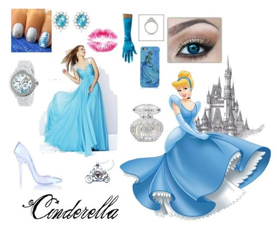 """""""Cinderella"""" by therandomgirl3 ❤ liked on Polyvore featuring Disney, eWatchFactory and Allurez"""