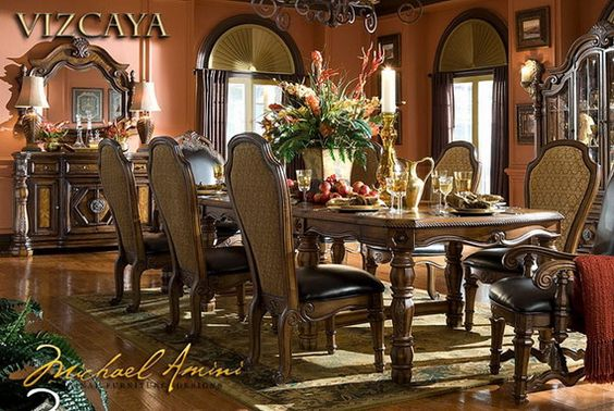Dining Room:Classic Dining Room Designs from Aico Furniture