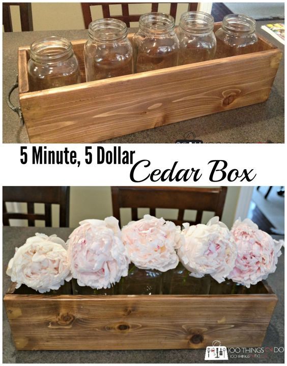 Diy Cedar Box   For Herbs, Flowers, Storage Or Display  •  Free tutorial with pictures on how to make a box in under 10 minutes