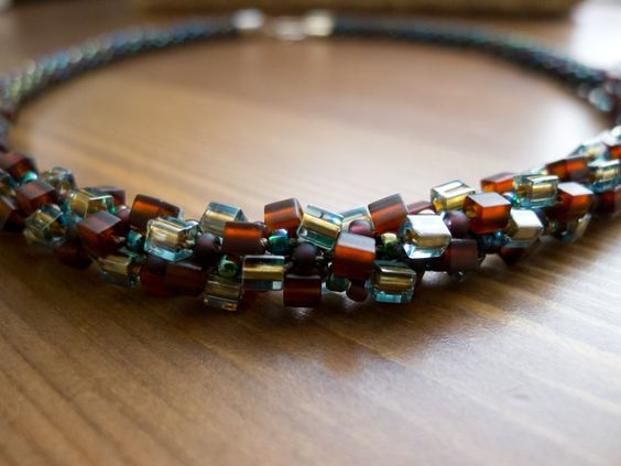 Kumihimo Beaded Necklace by TheGreatOrnate on Etsy