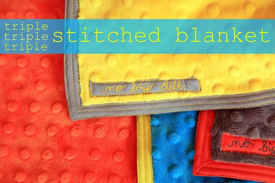 no big dill: Triple Stitched Blanket Tutorial, Minkee blanket with binding