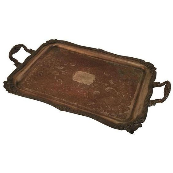 Victorian Serving Tray (€90) ❤ liked on Polyvore featuring home, kitchen & dining, serveware and decorative trays