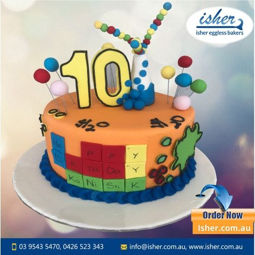 Is Your Little One Obsessed With Science Why Not Combine The Two And Try A Science Themed Cake For His Birthday Here W Cake Fondant Cakes Cool Birthday Cakes